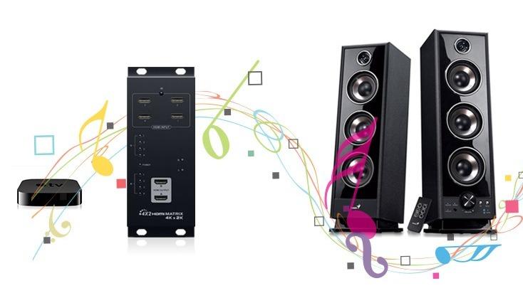 LKV342PRO UHD 4Kx2K - Отдельный аудиовыход